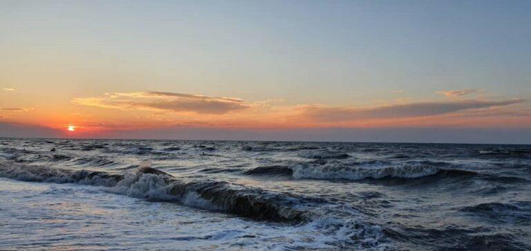 Закат. Азовское море.